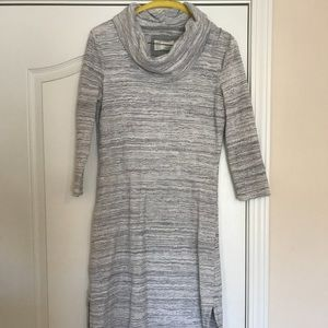 Cowl neck midi dress from Anthropologie